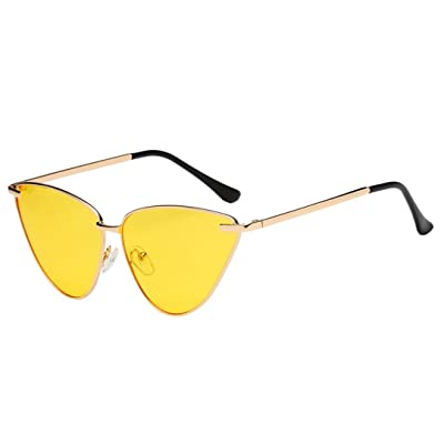 ADESHOP La Mode Des Femmes Vintage Oeil De Chat Frame Shades Cadre  Protection UV Lunettes De 2cfe1aac32ee