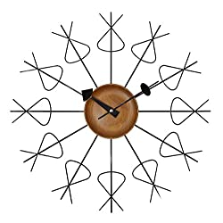 A.Cerco 19 Contemporary Wooden / Metal Display Decor Large Wall Clock (Pretzel) | For Home Office Big Spaces | Artistic Touch