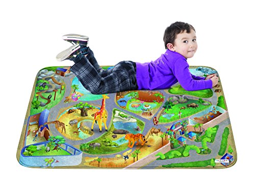 Mat for Children Learnig Carpet Area Rugs - Zoo Design 39x59 inch ()