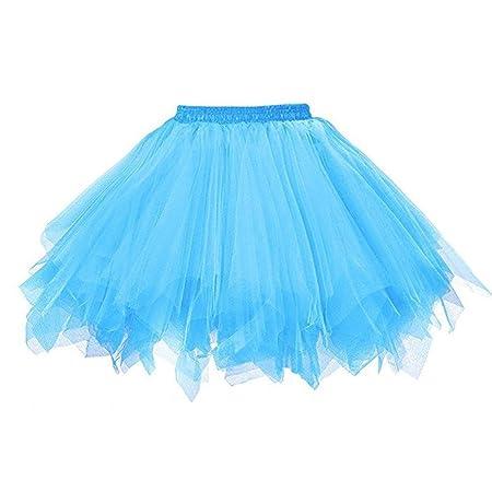 WOZOW Falda tutú de Tul para Baile de Ballet, Color Caramelo, para ...
