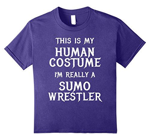 Kids Funny Sumo Wrestler Halloween Costume Shirt Men Women Kids 8 Purple - Female Wrestler Costumes
