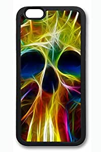 Cool Skull 06 Slim Soft Cover for iPhone 6 Plus Case ( 5.5 inch ) TPU Black Cases