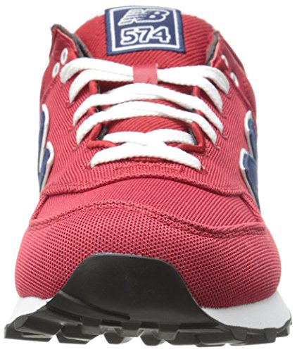 New Balance 574 Pique Polo Pack - Zapatillas para hombre Rojo (Red with Navy)