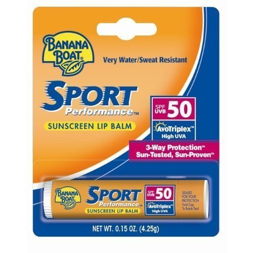 Banana Boat Sport SPF 50 Sunscreen Lip Balm .15 Oz (Pack of 12)