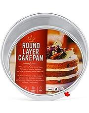 "Crown 6 inch Cake Pan, 3"" Deep, Heavy Duty, Even-Heating, Pure Aluminum, 15 cm Cake Pan"