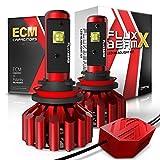 OPT7 Fluxbeam X H11 H8 H9 LED Headlight Bulbs w/Arc-Beam Lens - 8,400LM 6000K Daytime White - All Bulb Sizes - 60w - 2 Year Warranty