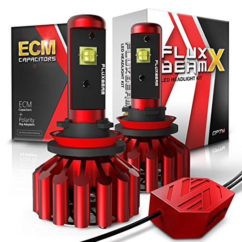 OPT7 Fluxbeam X H11 H8 H9 LED Fog Light Bulbs - 8,400Lm 6000K Daytime White - All Bulb Sizes - 2 Year Warranty