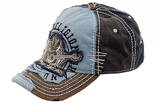 True Religion New Big Buddha Distressed Army Trucker Hat Cap/Tr#1101 (Dark Navy)