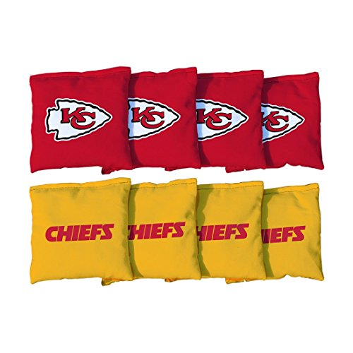 Victory Tailgate Kansas City Chiefs NFL Cornhole Game Bag Set (8 Bags Included, Corn-Filled)