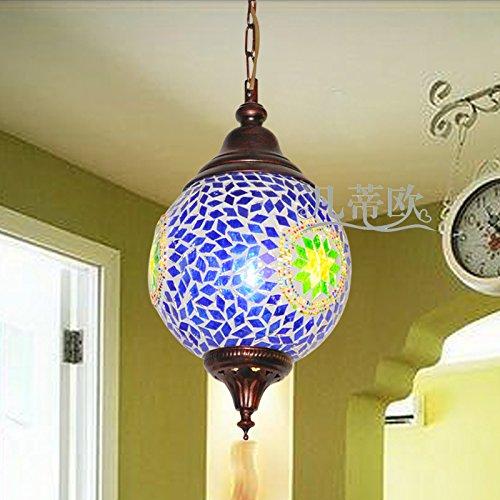 Tsqqst Hänge Pendelleuchten Coffee Shop Dekoration Leuchter Blau