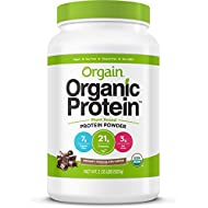 Orgain Organic Plant Based Protein Powder, Creamy Chocolate Fudge, Vegan, Non-GMO, Gluten Free, 2.03 Pound, 1 Count, Packaging May Vary