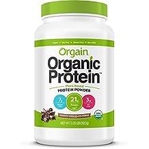 Orgain Organic Plant Based Protein Powder, Creamy Chocolate Fudge, 2.03 Pound, 1 Count, Vegan, Non-GMO, Gluten Free, Packaging May Vary