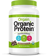 Orgain Organic Creamy Chocolate Fudge Protein Powder is a naturally smooth and delicious nourishment drink with 21 grams of organic protein and 7 grams of organic fiber per serving. Each serving is USDA organic, gluten free, kosher, vegan, no...