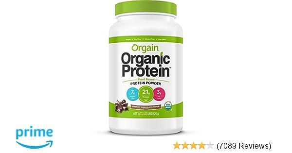 Orgain Organic Plant Based Protein Powder, Creamy Chocolate Fudge - Vegan,  Low Net Carbs, Non