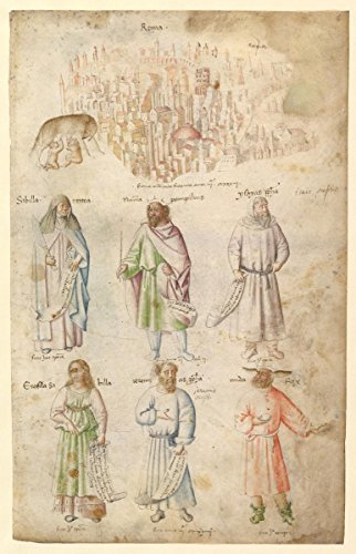 """Drawing """"Famous Men and Women from Classical and Biblical Antiquity."""" 
