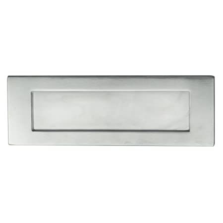 CARLISLE BRASS M36DSC Satin Chrome Victorian Door Letter Plate 305 x 103mm
