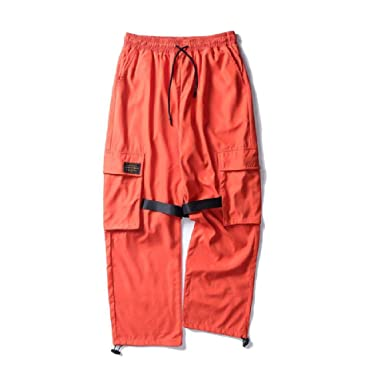 NOBRAND Hebilla de Bolsillo Lateral Cargo Harem Pantalones de ...