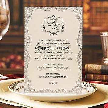 Luxury Wedding Invitations.Amazon Com Picky Bride Luxury Wedding Invitations Handmade Double