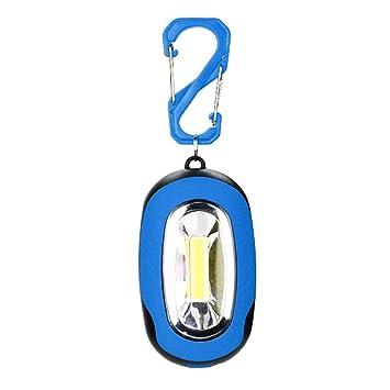 xluckx Llavero Linterna, USB Recargable Llavero luz para ...