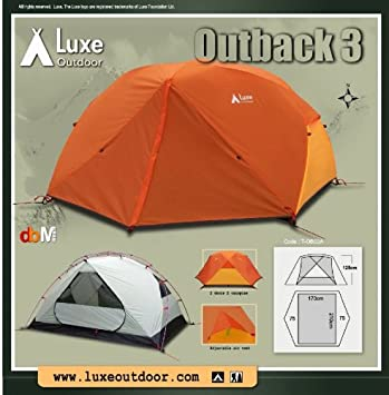 Luxe Outback 3 Person Tent & Luxe Outback 3 Person Tent: Amazon.co.uk: Sports u0026 Outdoors