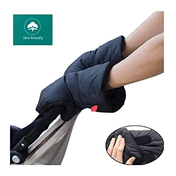 Buggy Handwarmer Pram Gloves Handmuff with Warm Fleece and Cotton Inside Waterproof and Windproof Stroller Handmuff Universal Size for Stroller Bike Trailer