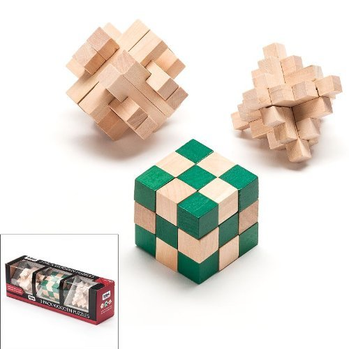 3 Pack Wooden Puzzles