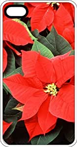 Poinsettias Arrangement Clear Rubber Case for Apple iPhone 5 or iPhone 5s