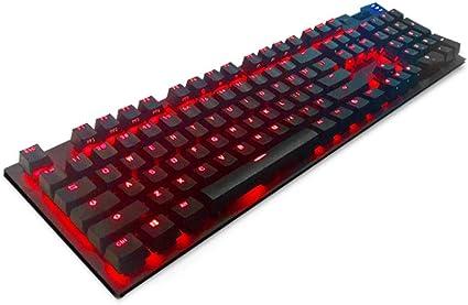 Xxw Gran Dios Teclado de computadora Especial Eje Rojo ...