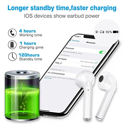 Bluetooth Headphones Wireless Sports Earbuds Sweatproof Earphones Noise Cancelling Headsets With