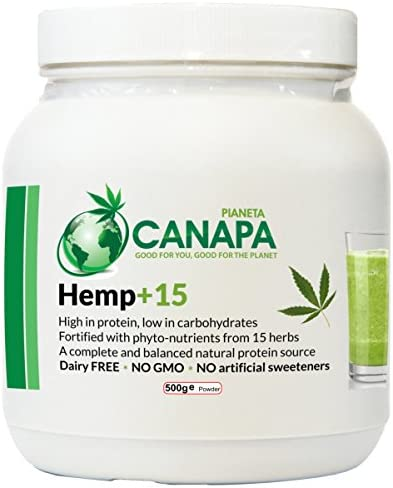 <b>Vegan Hemp+15 Protein Powder with 15 beneficial herbs. 100% natural. Easily digestible, suitable for children, seniors, athletes</b>
