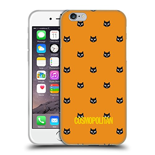 Official Cosmopolitan Orange Lovey The Cat Soft Gel Case for Apple iPhone 6 / 6s