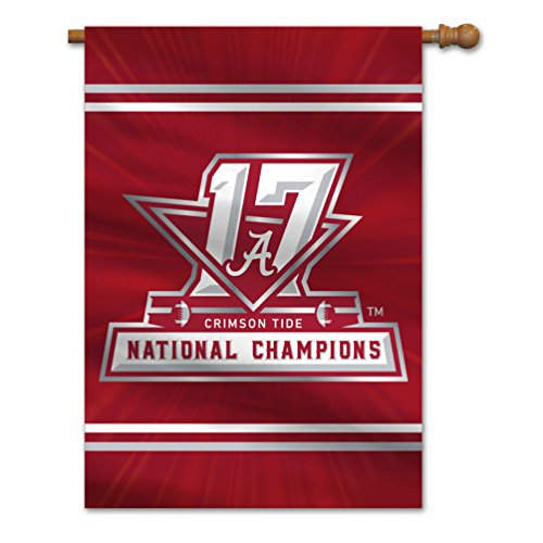 Alabama Crimson Tide Antenna - NCAA Alabama Crimson Tide 2018 College Football National Champions House Flag