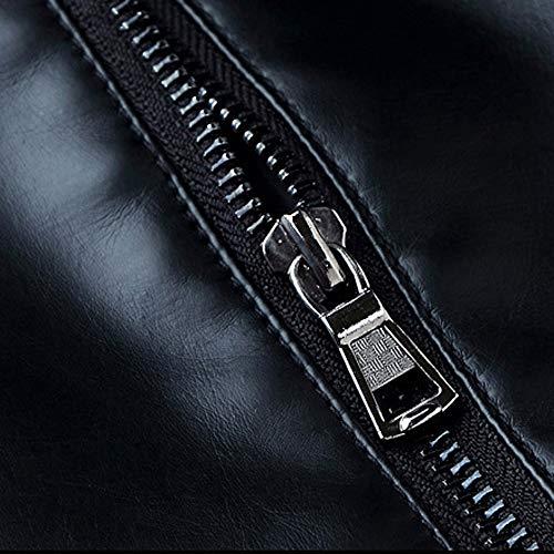 Outwear Nappa Nero Motociclista Giacca Smart Trench Zolimx Nera Inverno black Caldo Cappotto Slim Zip Bomber Uomo Da In Pelle Fredda w6U8RS8Iq