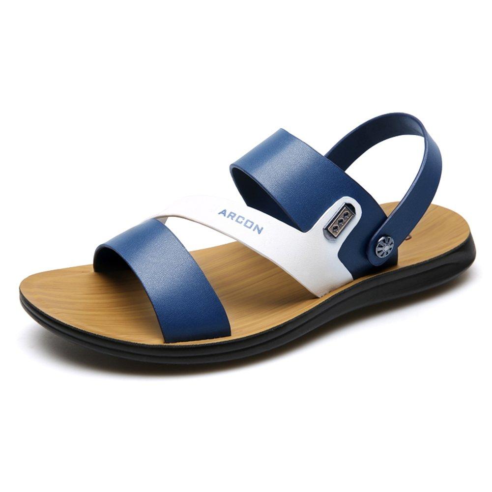 Sunny Sandalen aus Polyurethan Mikrofaser Hausschuhe Rutschfest Verschleißfeste Blaue Strandschuhe Hausschuhe Mikrofaser (Farbe : T2, Größe : EU43/UK9) T3 b1f2b4