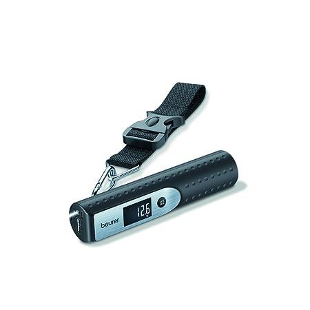 Beurer LS 50 - Bascula para Equipaje con Cargador para Smartphone, Linterna, Color Negro: Amazon.es: Equipaje