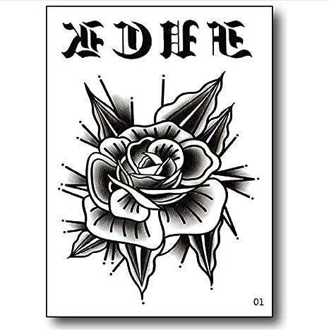 yyyDL Hombres tatuaje pequeño vampiro mágico tatuaje mano rosa ...