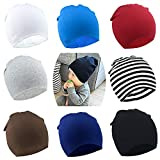 BQUBO 8 Pack Unisex Baby Beanie Hat Infant Baby Soft Cute Knit Cap Nursery Beanie
