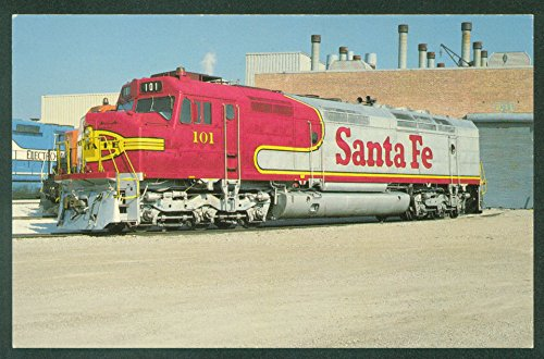 SANTA FE 101 Engine Passenger Train LAGRANGE ILLINOIS Railroad Postcard ()