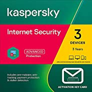 Kaspersky Internet Security 2021 | 3 Devices | 3 Years (2+1 Years) | PC/Mac/Android | Activation Key Card by P