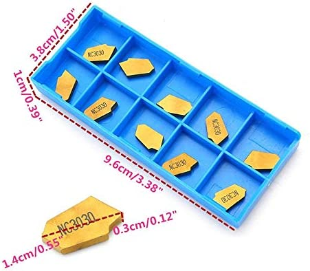 ZYL-YL 10pcs 3mm GTN3 CNC Parting Off Tips Inserts NC3030 Carbide Part Off Cutting Turning Tool Grooving Inserts