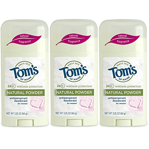 Tom's of Maine Women's Antiperspirant Deodorant Natural Powder - 2.25 Oz, Pack of 3 (Tom Natural Deodorant)