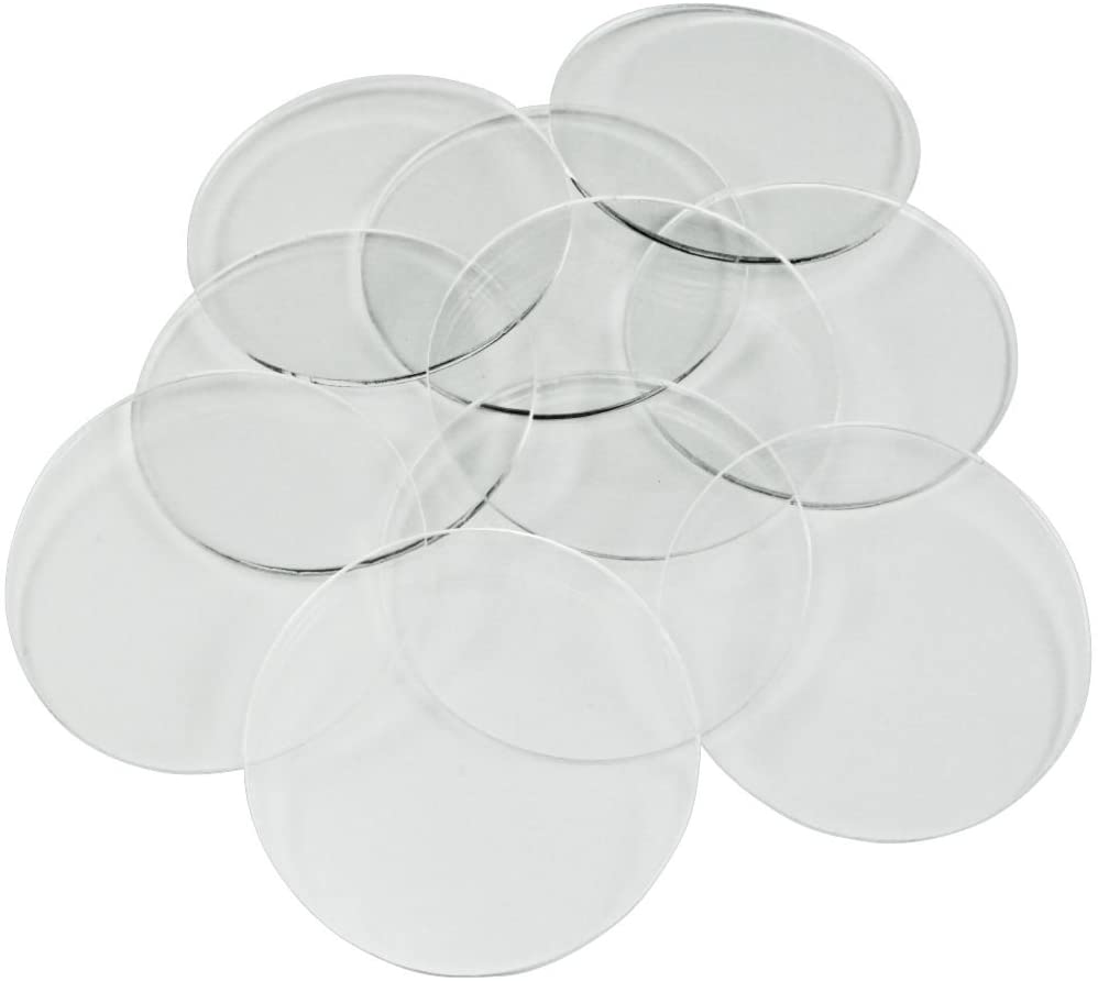 50mm TRANSPARENT CIRCLE CLEAR ACRYLIC BASES for Roleplay Miniatures ROUND