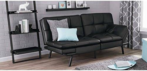 mainstays memory foam futonblack pu futons   amazon    rh   amazon