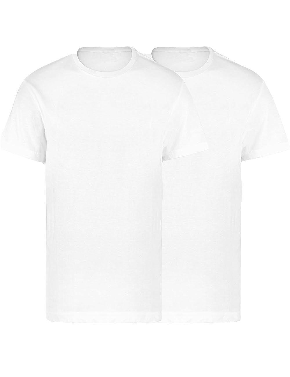 9aa6acfd4d9683 LisaModa Herren Seamless Unterhemd 2er Pack T-Shirt Baumwolle ...