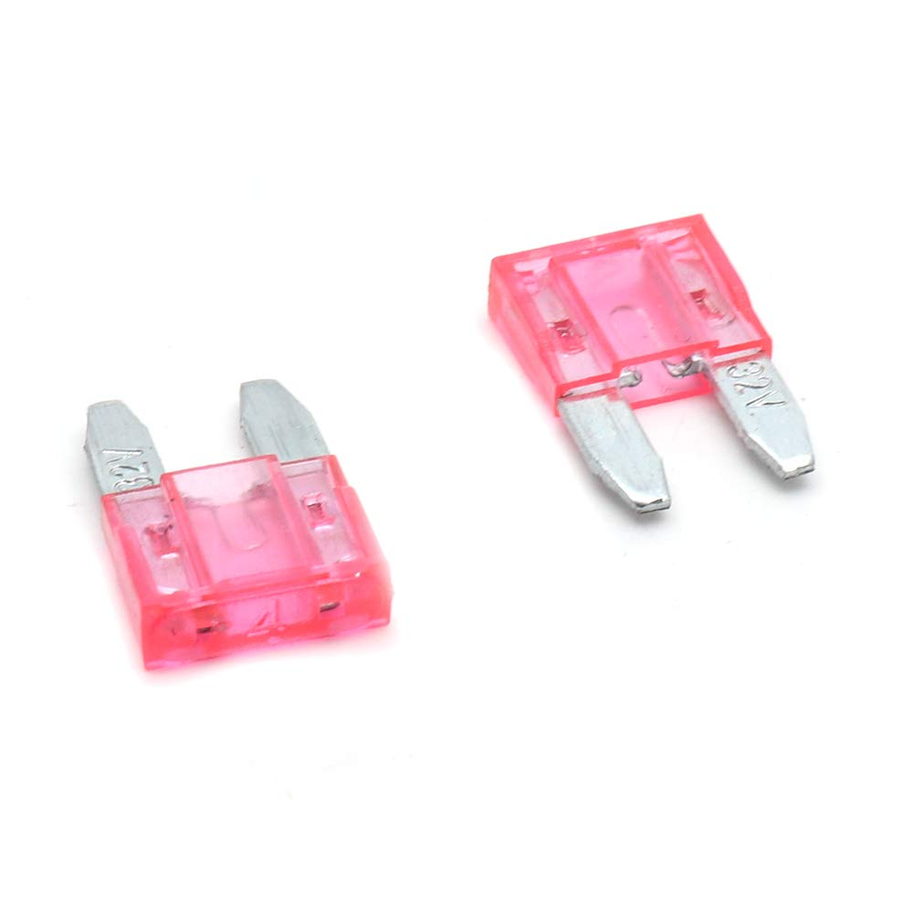 Pink Aodesy Electronics 4 AMP ATM Mini Blade Fuse Replacement for Auto Car Truck Boat SUV,Pack of 50