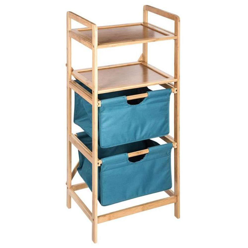 Mueble de almacenaje para el baño, de BAMBÚ con 2 cestas correderas y 2 estantes de BAMBÚ con 2 cestas correderas y 2 estantes AC-Déco