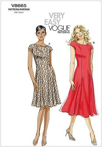Taglie F5 16-18-20-22-24 Vogue V8665 Cartamodelli per Top da Donna