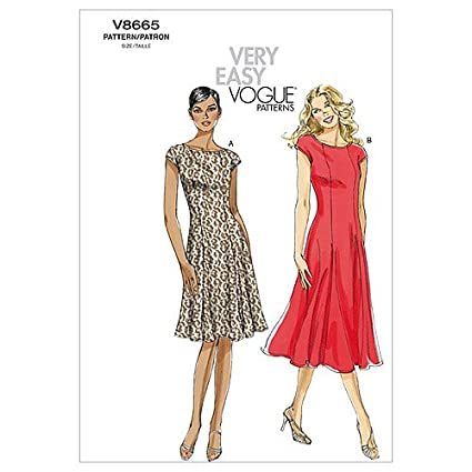Vogue Patterns V8665 - Patrones de costura para vestidos de mujer (talla F5: 46