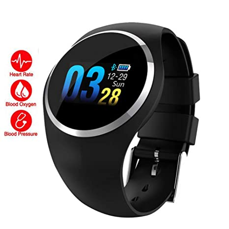 QLPP Bluetooth Lady Smart Watch Monitor de Ritmo cardíaco ...