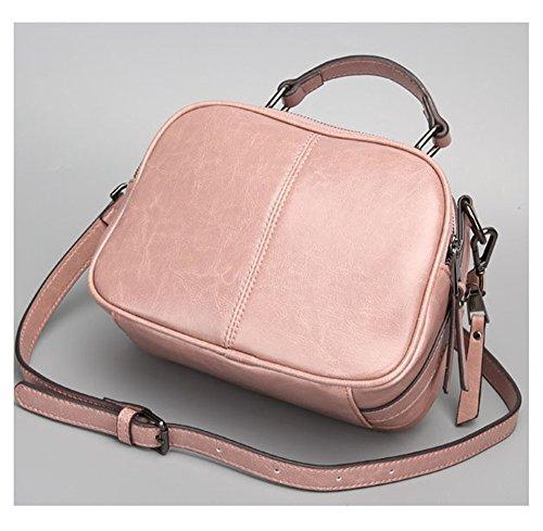 Shoulder Asdflina Use Pink Capacity Women's Suitable Everyday Handbag Wild Tote Leather Simple Bag For Large Crossbody 1wz1FqnrxA